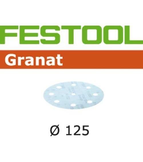 Festool šlifavimo popierius Granat STF D125/90 P1200 Gr 50X